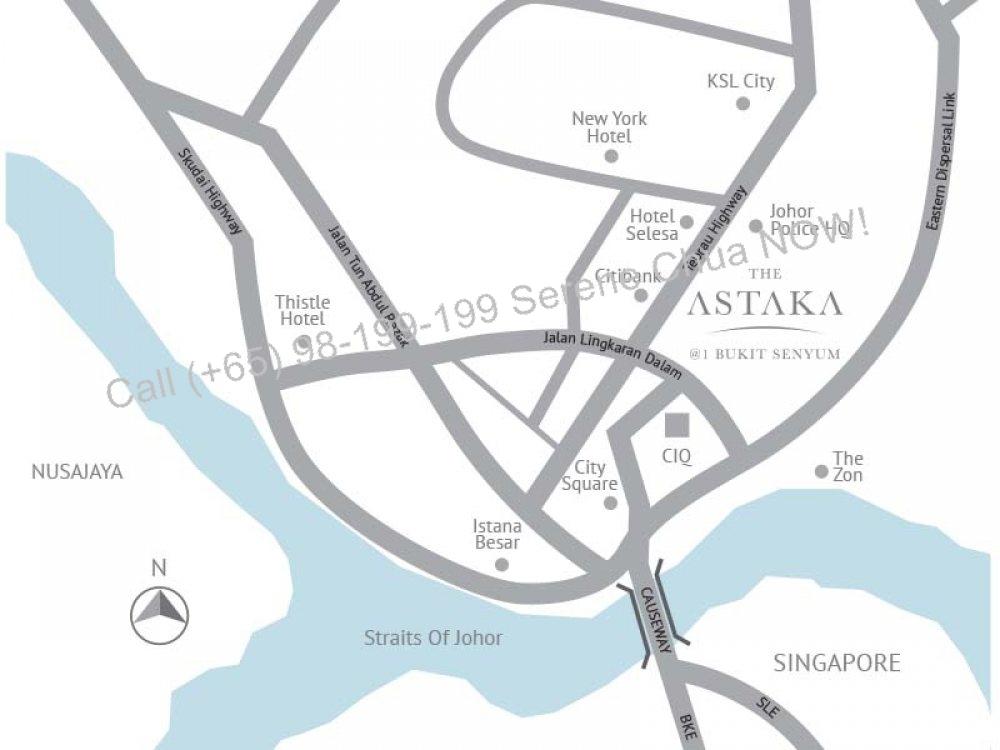 Astaka location map
