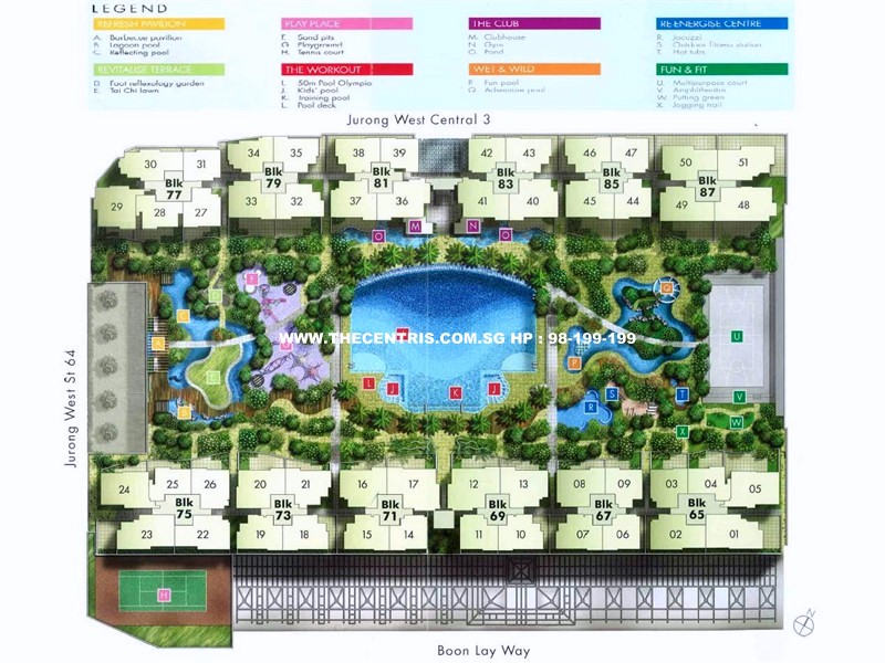 THECENTRIS site plan