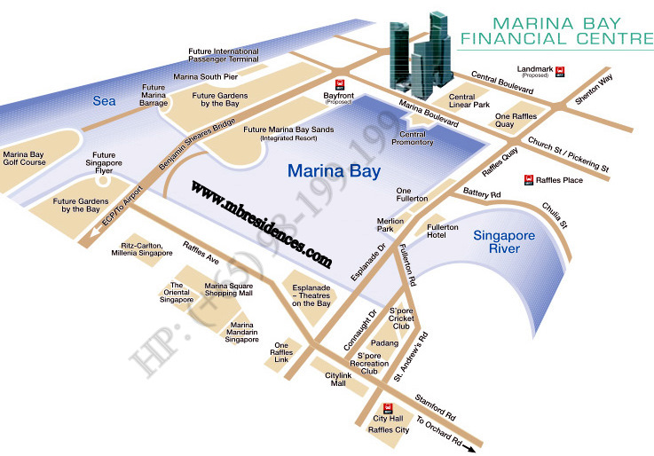 marina bay residences location map