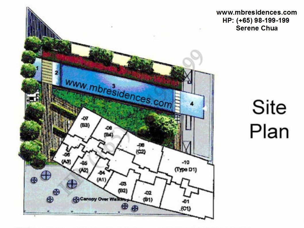 marina bay residences siteplan